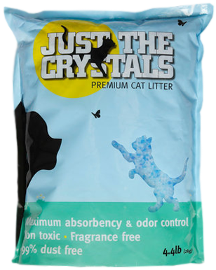 Bag of Just the Crystals cat litter